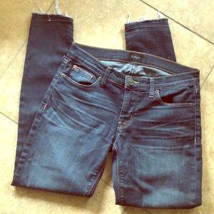 Hudson Skinny Raw Hem Jeans Size 28